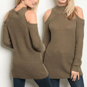 Sweaters - COCOA COLD SHOULDER TOP
